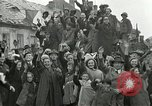 Image of 16th Armored Division greeted by Czech citizens Pilsen Czechoslovakia, 1945, second 4 stock footage video 65675062817