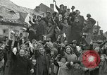 Image of 16th Armored Division greeted by Czech citizens Pilsen Czechoslovakia, 1945, second 9 stock footage video 65675062817