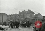 Image of 16th Armored Division greeted by Czech citizens Pilsen Czechoslovakia, 1945, second 22 stock footage video 65675062817
