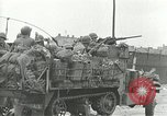 Image of 16th Armored Division greeted by Czech citizens Pilsen Czechoslovakia, 1945, second 48 stock footage video 65675062817