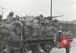 Image of 16th Armored Division greeted by Czech citizens Pilsen Czechoslovakia, 1945, second 49 stock footage video 65675062817