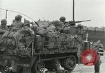 Image of 16th Armored Division greeted by Czech citizens Pilsen Czechoslovakia, 1945, second 52 stock footage video 65675062817