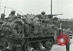 Image of 16th Armored Division greeted by Czech citizens Pilsen Czechoslovakia, 1945, second 53 stock footage video 65675062817