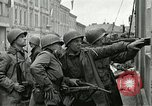 Image of 16th Armored Division greeted by Czech citizens Pilsen Czechoslovakia, 1945, second 54 stock footage video 65675062817
