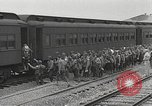 Image of US Army soldiers board trains for war United States USA, 1944, second 8 stock footage video 65675062823