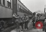 Image of US Army soldiers board trains for war United States USA, 1944, second 9 stock footage video 65675062823