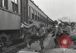 Image of US Army soldiers board trains for war United States USA, 1944, second 10 stock footage video 65675062823