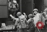 Image of US Army soldiers board trains for war United States USA, 1944, second 11 stock footage video 65675062823