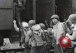Image of US Army soldiers board trains for war United States USA, 1944, second 12 stock footage video 65675062823