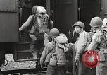 Image of US Army soldiers board trains for war United States USA, 1944, second 13 stock footage video 65675062823