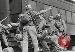 Image of US Army soldiers board trains for war United States USA, 1944, second 16 stock footage video 65675062823