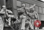 Image of US Army soldiers board trains for war United States USA, 1944, second 17 stock footage video 65675062823