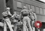 Image of US Army soldiers board trains for war United States USA, 1944, second 18 stock footage video 65675062823