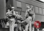 Image of US Army soldiers board trains for war United States USA, 1944, second 19 stock footage video 65675062823