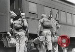 Image of US Army soldiers board trains for war United States USA, 1944, second 20 stock footage video 65675062823
