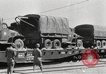 Image of US Army soldiers board trains for war United States USA, 1944, second 36 stock footage video 65675062823