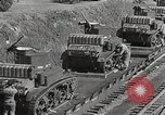 Image of US Army soldiers board trains for war United States USA, 1944, second 37 stock footage video 65675062823