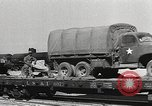 Image of US Army soldiers board trains for war United States USA, 1944, second 39 stock footage video 65675062823