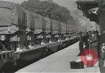 Image of US Army soldiers board trains for war United States USA, 1944, second 42 stock footage video 65675062823