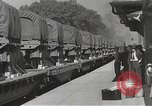 Image of US Army soldiers board trains for war United States USA, 1944, second 43 stock footage video 65675062823