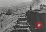 Image of US Army soldiers board trains for war United States USA, 1944, second 47 stock footage video 65675062823