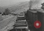 Image of US Army soldiers board trains for war United States USA, 1944, second 49 stock footage video 65675062823