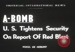 Image of Soviet Union possession of atomic bomb United States USA, 1949, second 1 stock footage video 65675062834