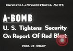 Image of Soviet Union possession of atomic bomb United States USA, 1949, second 4 stock footage video 65675062834