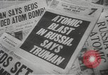 Image of Soviet Union possession of atomic bomb United States USA, 1949, second 8 stock footage video 65675062834