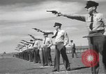 Image of armed guards protecting Hanford site nuclear facility Richland Washington USA, 1949, second 55 stock footage video 65675062835