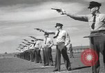 Image of armed guards protecting Hanford site nuclear facility Richland Washington USA, 1949, second 57 stock footage video 65675062835