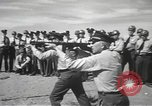 Image of armed guards protecting Hanford site nuclear facility Richland Washington USA, 1949, second 61 stock footage video 65675062835