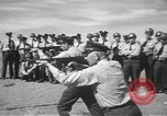 Image of armed guards protecting Hanford site nuclear facility Richland Washington USA, 1949, second 62 stock footage video 65675062835