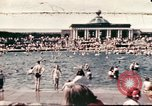 Image of Outdoor swimming pool in England England United Kingdom, 1943, second 1 stock footage video 65675062853