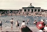 Image of Outdoor swimming pool in England England United Kingdom, 1943, second 3 stock footage video 65675062853