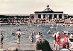 Image of Outdoor swimming pool in England England United Kingdom, 1943, second 6 stock footage video 65675062853