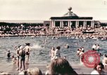 Image of Outdoor swimming pool in England England United Kingdom, 1943, second 12 stock footage video 65675062853