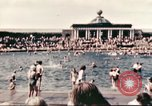 Image of Outdoor swimming pool in England England United Kingdom, 1943, second 13 stock footage video 65675062853