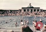 Image of Outdoor swimming pool in England England United Kingdom, 1943, second 19 stock footage video 65675062853