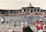 Image of Outdoor swimming pool in England England United Kingdom, 1943, second 20 stock footage video 65675062853