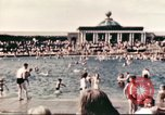 Image of Outdoor swimming pool in England England United Kingdom, 1943, second 21 stock footage video 65675062853
