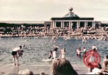 Image of Outdoor swimming pool in England England United Kingdom, 1943, second 22 stock footage video 65675062853