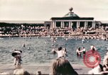 Image of Outdoor swimming pool in England England United Kingdom, 1943, second 23 stock footage video 65675062853