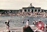 Image of Outdoor swimming pool in England England United Kingdom, 1943, second 24 stock footage video 65675062853