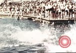 Image of Outdoor swimming pool in England England United Kingdom, 1943, second 35 stock footage video 65675062853