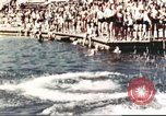 Image of Outdoor swimming pool in England England United Kingdom, 1943, second 36 stock footage video 65675062853