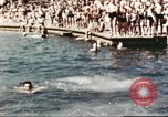 Image of Outdoor swimming pool in England England United Kingdom, 1943, second 40 stock footage video 65675062853