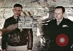 Image of U.S. Army Air Force fliers of the 351st Heavy Bomb Group Polebrook Northamptonshire England United Kingdom, 1943, second 1 stock footage video 65675062855