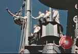 Image of Hannibal Victory ship Pacific ocean, 1945, second 54 stock footage video 65675062877