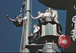 Image of Hannibal Victory ship Pacific ocean, 1945, second 57 stock footage video 65675062877